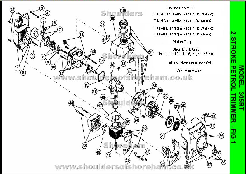 Stihl FS 85 Trimmer Parts Diagram as well FS 56 RC Stihl Rope Pull ...