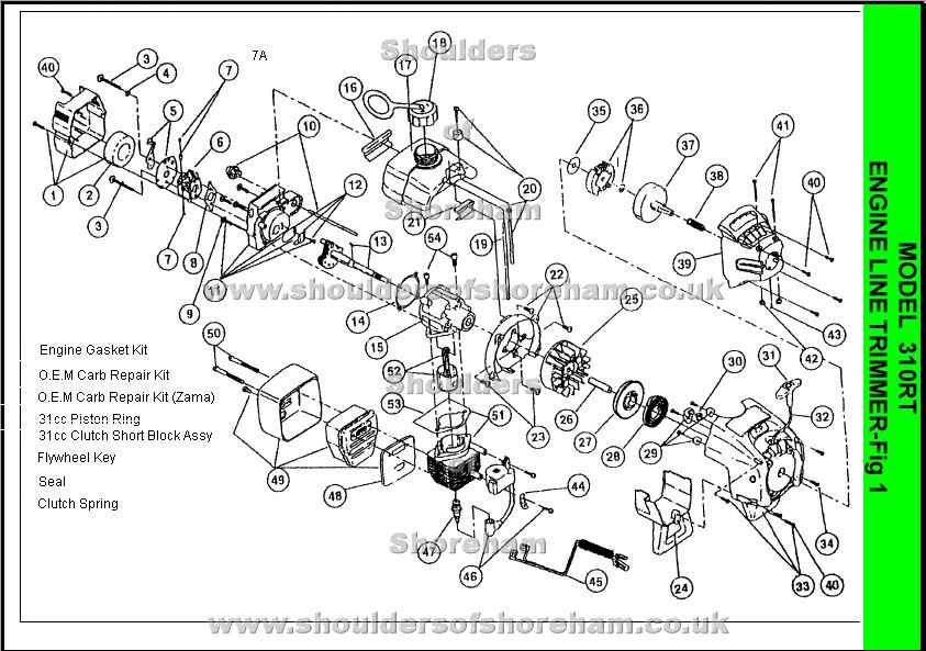 Tremendous Ryobi 310Rt Spare Parts Diagrams Spares And Spare Parts Wiring Cloud Pimpapsuggs Outletorg