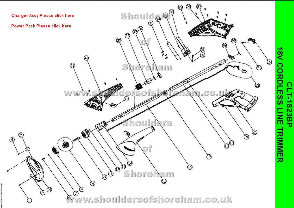 Ryobi Clt 1823bp 18v Cordless Line Trimmer Spares Diagram
