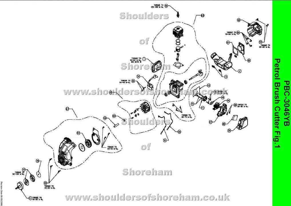 Ryobi Pbc 3046yb Petrol Brush Cutter Spares Diagram Spares