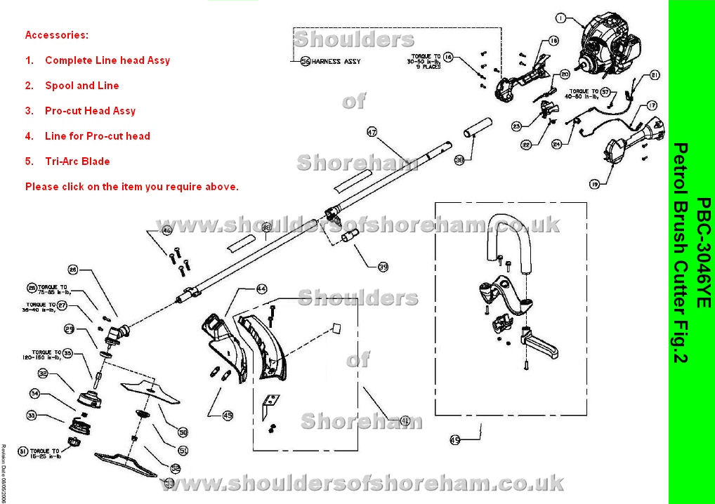 Ryobi Pbc 3046ye Petrol Brush Cutter Spares Diagram Spares