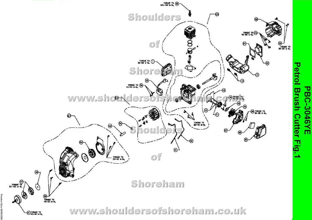 Ryobi Pbc 3046ye Petrol Brush Cutter Spares Diagram Spares And Spare Parts