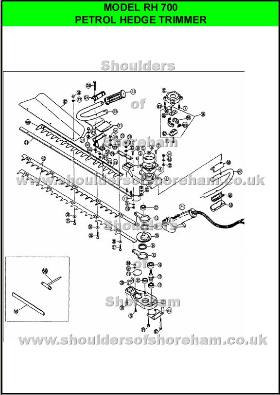 Ryobi Rh700 Hedge Trimmer Spares Diagram - Wiring Diagram Options
