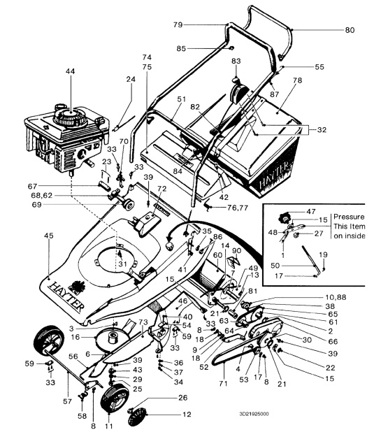 hayter harrier 48 22008836 spares and spare parts rh shouldersofshoreham co uk