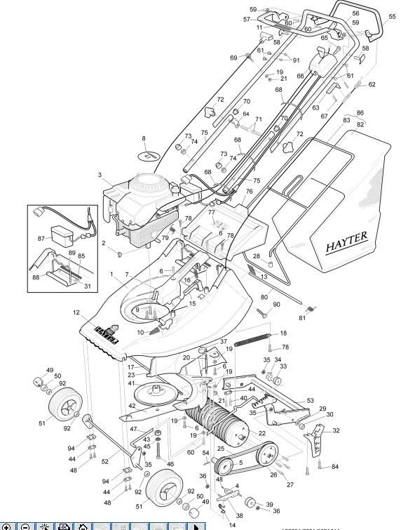 hayter harrier 41 spare parts diagram