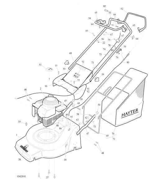 hayter jubilee serial code 423a001001 spare parts machine