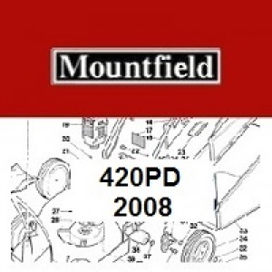 Mountfield 420 PD Spares Parts Diagrams 420PD 2008