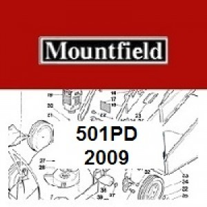 Mountfield MultiClip 501PD Spares Parts Diagrams 501 PD 2009
