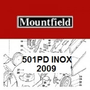 Mountfield MultiClip 501PD INOX Spares Parts Diagrams 501 PD 2009