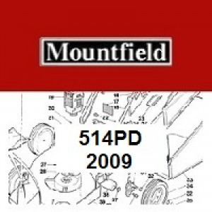 Mountfield 514PD Spares Parts Diagrams 514 PD 2009