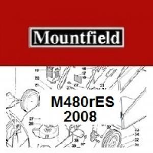 Mountfield M480RES Spares Parts Diagrams M480 R ES 2008