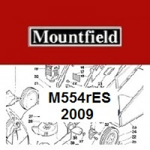 Mountfield M554RES Spares Parts Diagrams M554R ES 2009