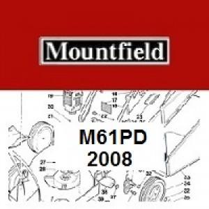 Mountfield M61PD Spares Parts Diagrams M61 PD 2008