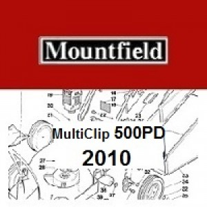 Mountfield MultiClip 500PD Spares Parts Diagrams MultiClip 500 PD 2010