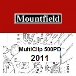 Mountfield Multiclip 500PD Spares Parts Diagrams Multiclip 500 PD 2011