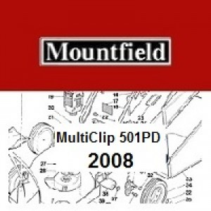 Mountfield MULTICLIP 501PD Spares Parts Diagrams MULTICLIP 501 PD 2008