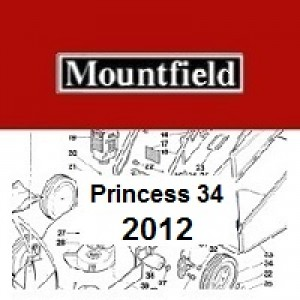 Mountfield Princess 34 Spares Parts Diagrams PRINCESS 34 2012