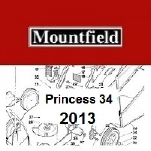 Mountfield Princess 34 Spares Parts Diagrams PRINCESS 34 2013