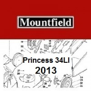 Mountfield Princess 34LI Spares Parts Diagrams PRINCESS 34LI 2013