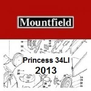 Mountfield Princess 34LI Spares Parts Diagrams PRINCESS 34LI 2013