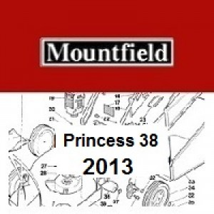 Mountfield Princess 38 Spares Parts Diagrams PRINCESS 38 2013