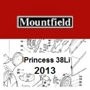 Mountfield Princess 38LI Spares Parts Diagrams PRINCESS 38LI 2013