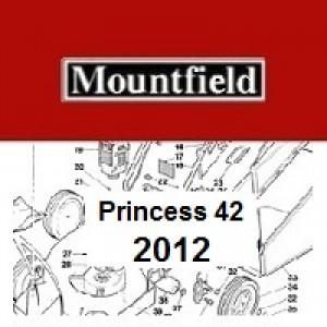 Mountfield Princess 42 Spares Parts Diagrams PRINCESS 42 2012