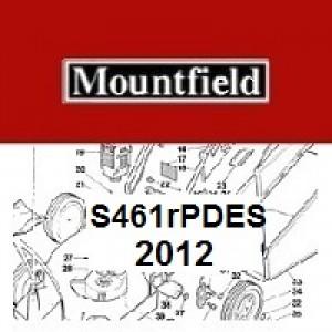 Mountfield S461RPDES Spares Parts Diagrams S461RPDES 2012