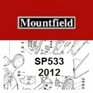 Mountfield SP533 Spares Parts Diagrams SP 533 SP 2012