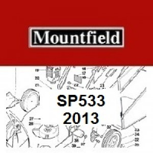Mountfield SP533 Spares Parts Diagrams SP 533 SP 2013