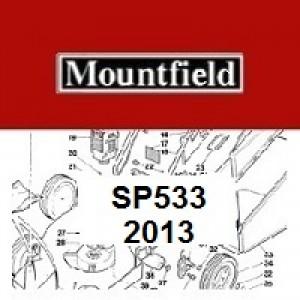 Mountfield SP533 Spares Parts Diagrams SP 533 SP 2013
