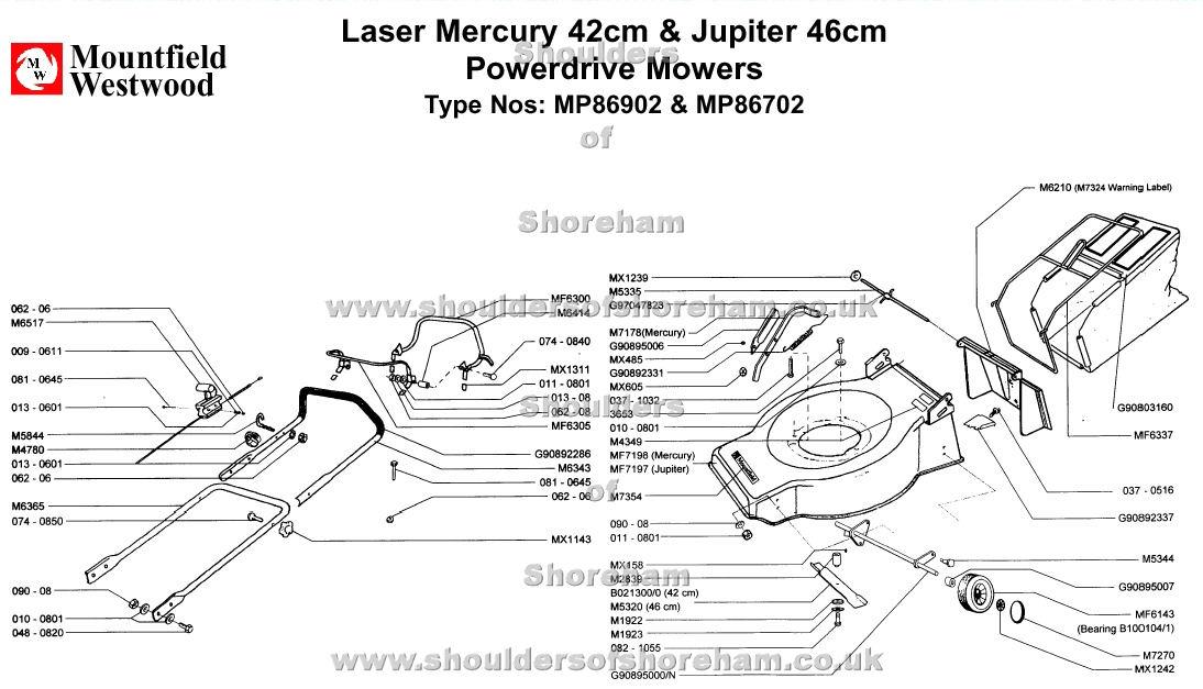mp86902 mp86702 mountfield laser mercury 42 jupiter 46