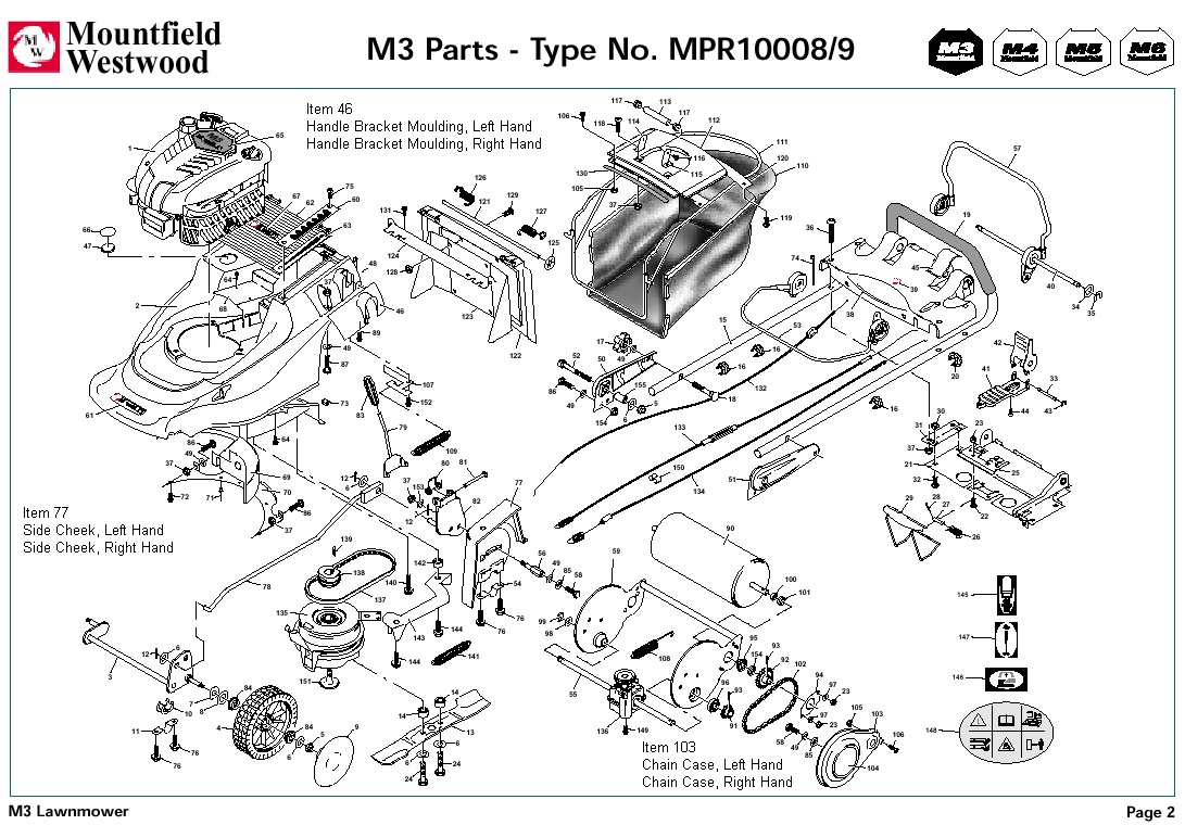 mpr10008 mpr10009 mountfield m3 pre 2002 machine diagram for spare parts spares and spare parts
