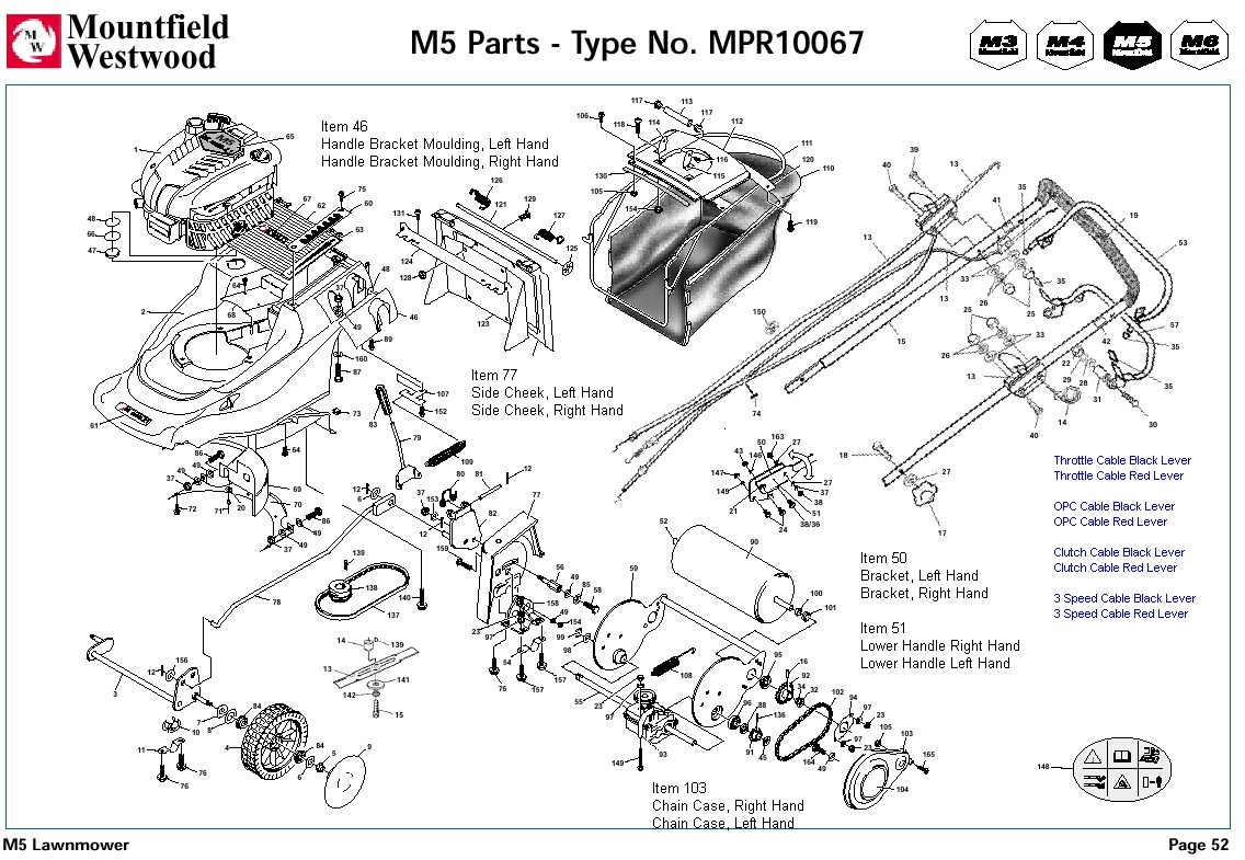 mpr10067 mountfield m5 pre 2002 machine diagram for spare parts spares and spare parts