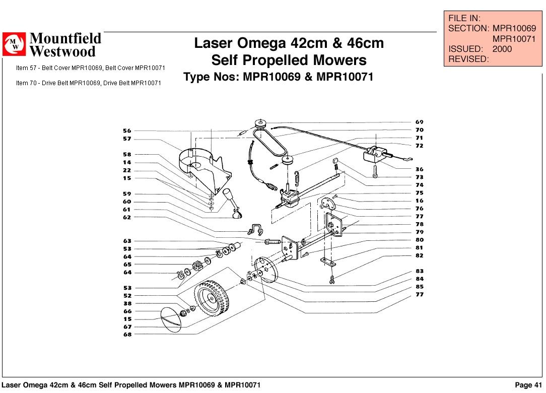 Mountfield Laser Omega 42cm And 46cm Self Propelled