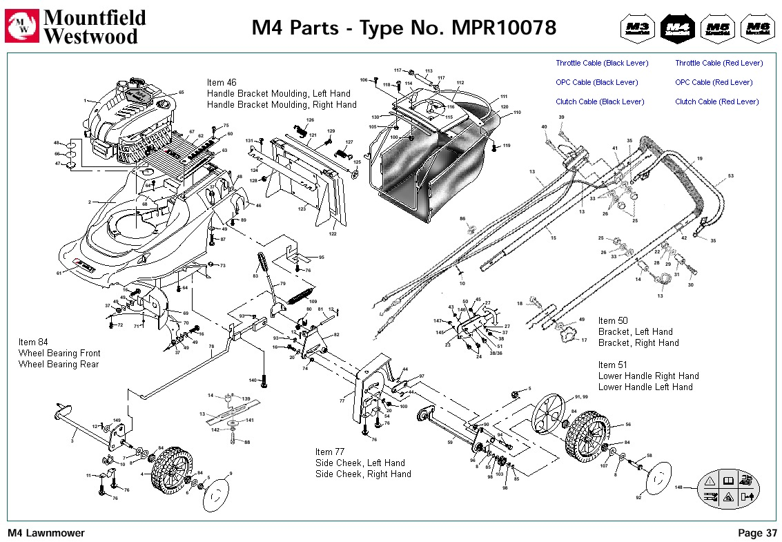 mpr10078 mountfield m4 pre 2002 machine diagram for spare