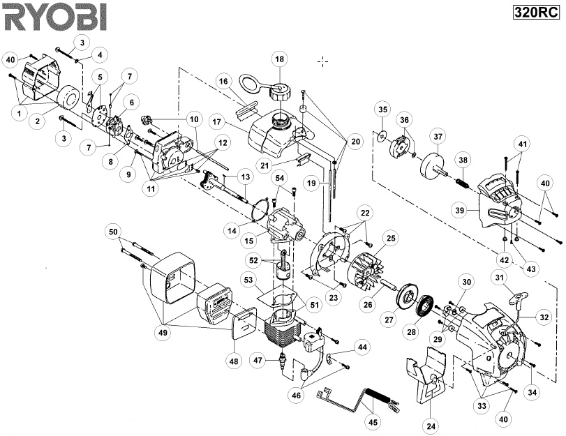 ryobi 320rc spares and spare parts diagrams spares and spare parts